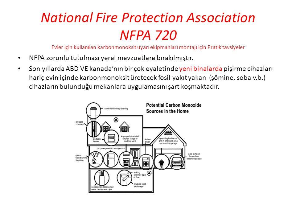 National Fire Protection Association NFPA 720 Evler için kullanılan karbonmonoksit uyarı ekipmanları montajı için Pratik tavsiyeler • NFPA zorunlu tut