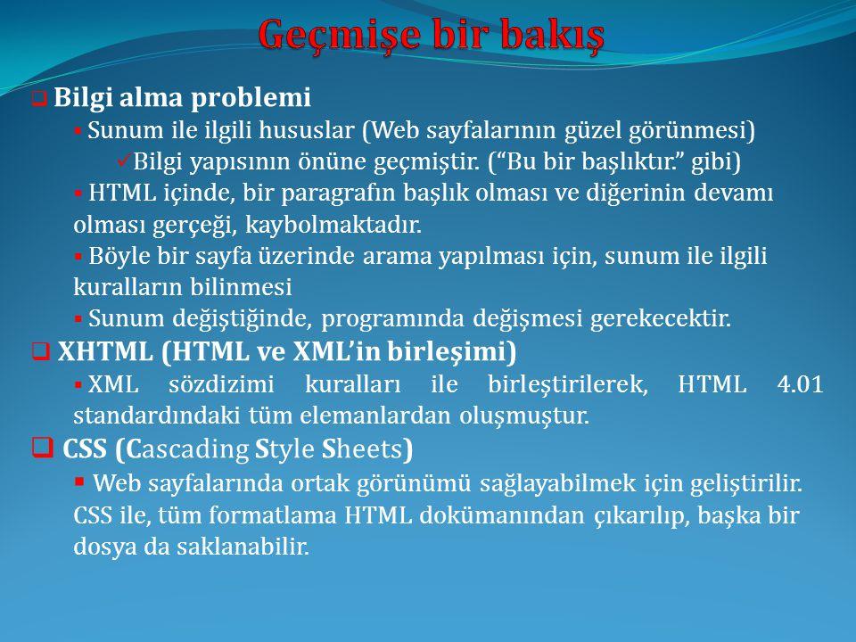  XHTML ve HTML karşılaştırması  XHTML elemanları, düzgün bir şekilde iç içe yerleştirilmeli.