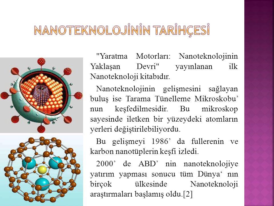 Yaratma Motorları: Nanoteknolojinin Yaklaşan Devri yayınlanan ilk Nanoteknoloji kitabıdır.