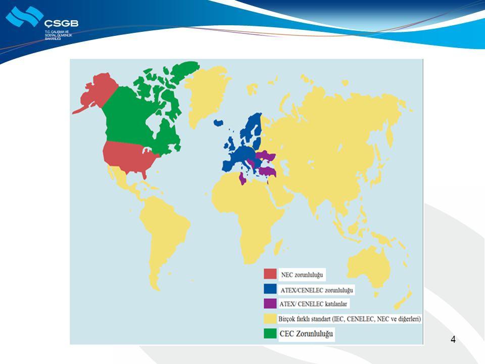  ATEX  Atmosphères explosibles ATEX kısaltması iki Avrupa Birliği Direktifini içermektedir: 94/9 EC ve 1999/92 EC.