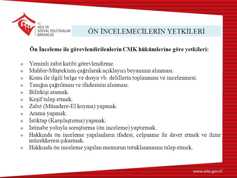 RAPOR SUNUM YAZISI ÖRNEĞİ 29 T.C.