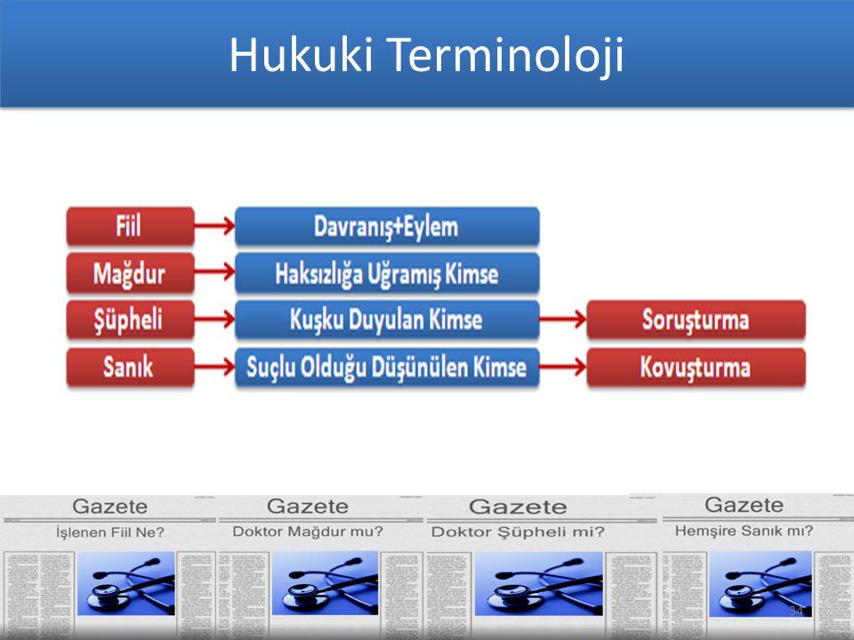 34 Hukuki Terminoloji