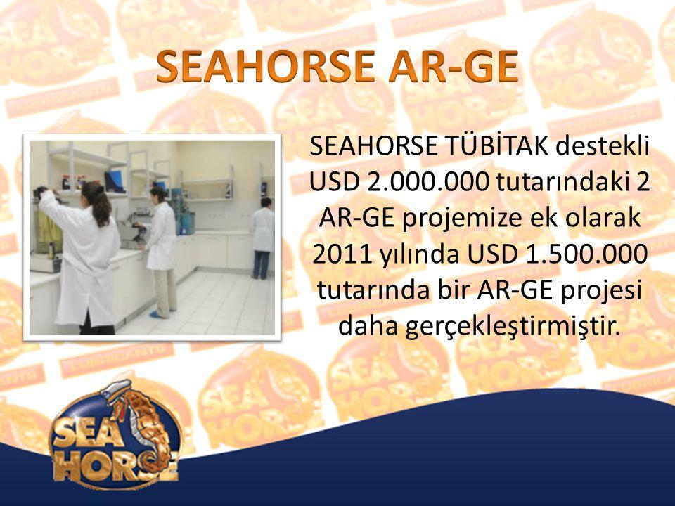 SEAHORSE TÜBİTAK destekli USD 2.000.000 tutarındaki 2 AR-GE projemize ek olarak 2011 yılında USD 1.500.000 tutarında bir AR-GE projesi daha gerçekleştirmiştir.