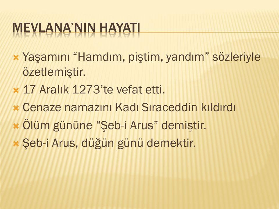  Alaeddin Keykubat babasını Konya'ya davet etti.  3 Mayıs 1228'de Konya'ya göçtüler.  Babası 12 Ocak 1231'de vefat etti.  Mevlana babasının varisi