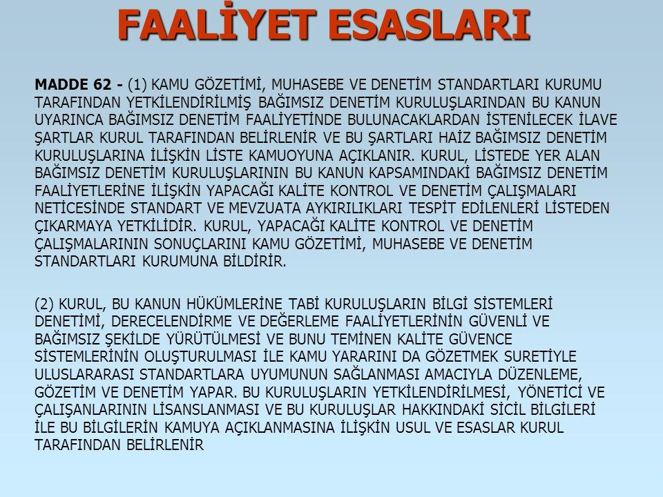 FAALİYET ESASLARI MADDE 145 - 5411 SAYILI KANUNUN; A) 33 ÜNCÜ MADDESİNİN BİRİNCİ FIKRASI AŞAĞIDAKİ ŞEKİLDE DEĞİŞTİRİLMİŞTİR.