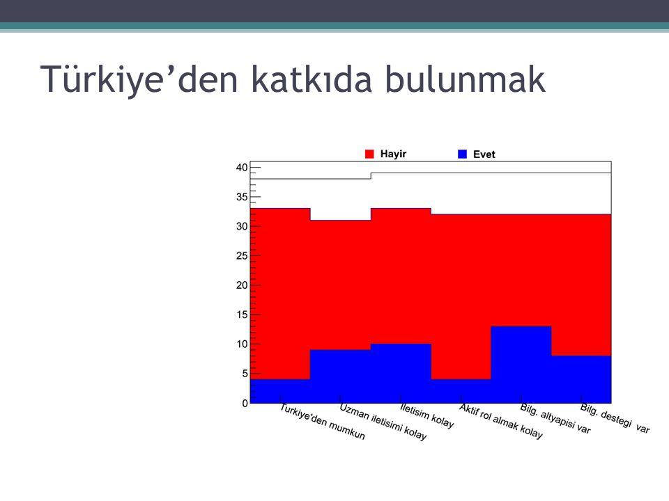 Türkiye'den katkıda bulunmak