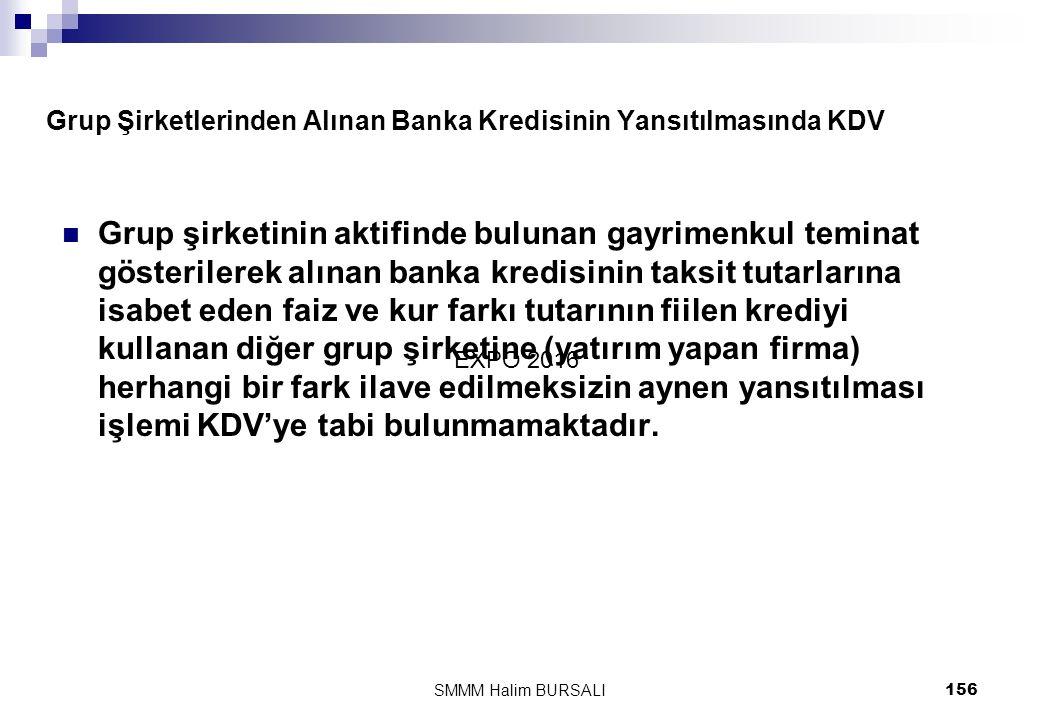 Grup Şirketlerinden Alınan Banka Kredisinin Yansıtılmasında KDV  Grup şirketinin aktifinde bulunan gayrimenkul teminat gösterilerek alınan banka kred