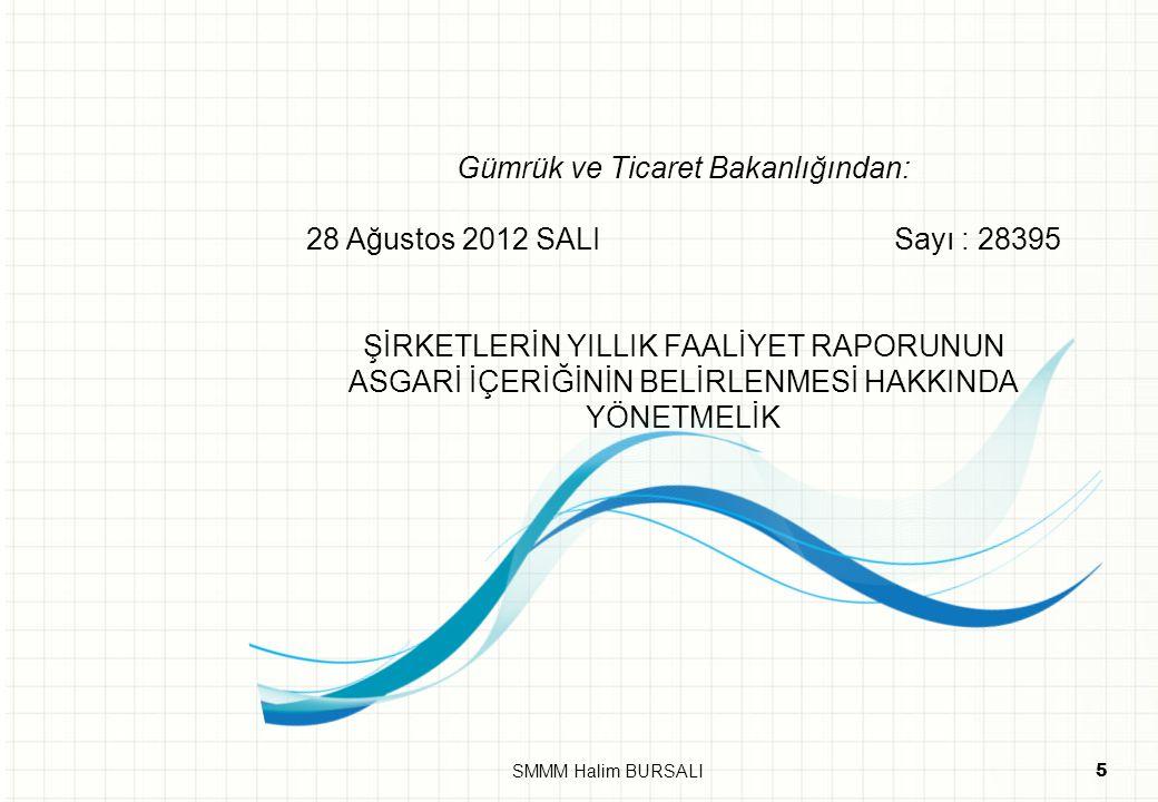 Gümrük ve Ticaret Bakanlığından: 28 Ağustos 2012 SALI Sayı : 28395 ŞİRKETLERİN YILLIK FAALİYET RAPORUNUN ASGARİ İÇERİĞİNİN BELİRLENMESİ HAKKINDA YÖNET