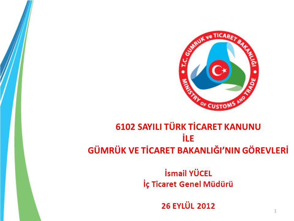 Yeni Türk Ticaret Kanunu 14 Şubat 2011 Tarihinde Resmi Gazete'de Yayımlanmıştır.