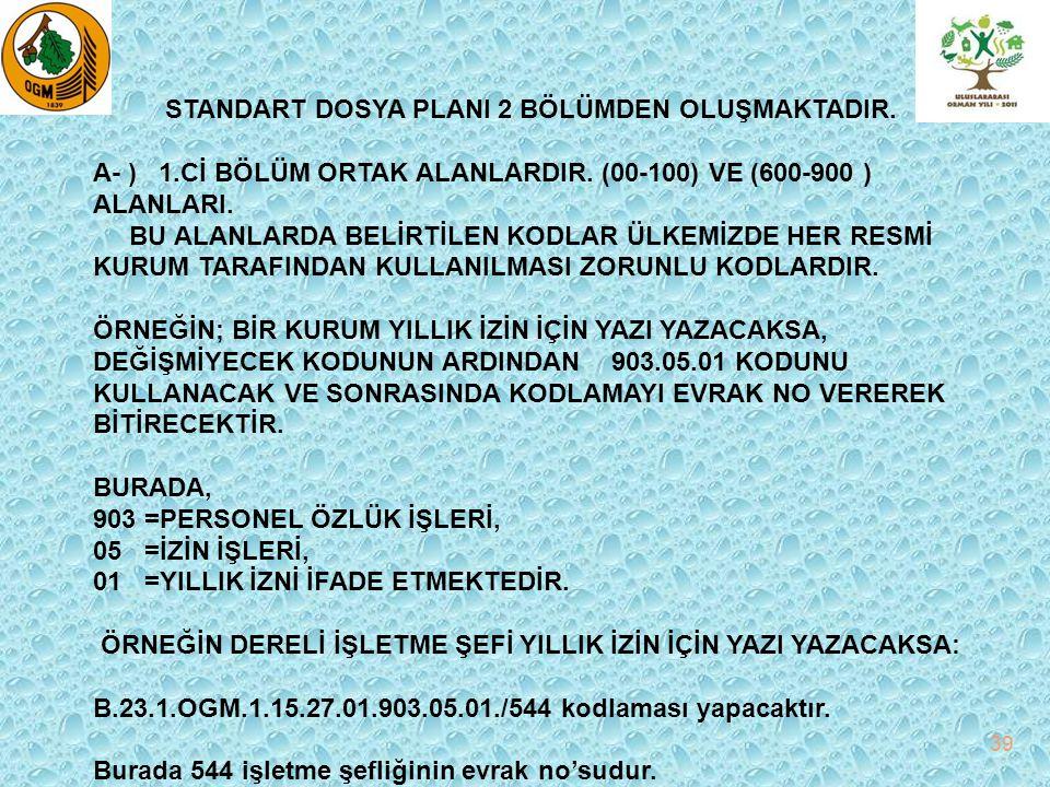 B- ) 2.Cİ BÖLÜM KURUMLARA AYRILAN ALANLARDIR.(100-500 ) ALANLARI.