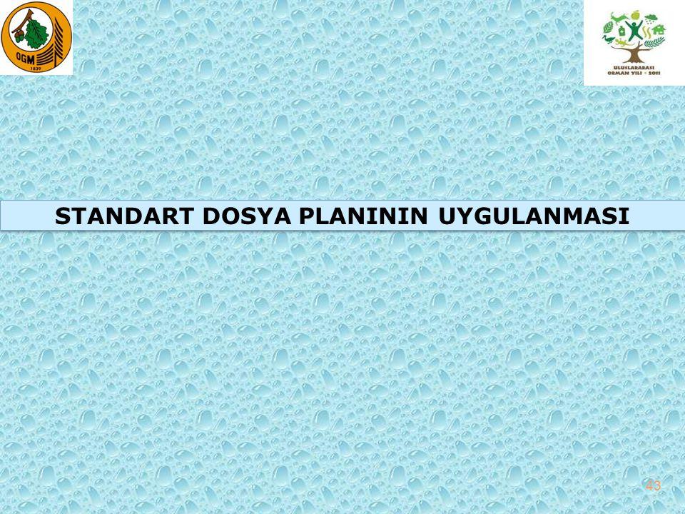 STANDART DOSYA PLANININ UYGULANMASI 43