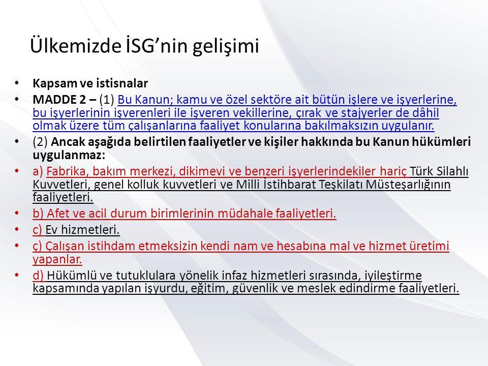 D 87) Kişisel korucu donanımların işyerlerinde kullanımı ile ilgili olarak aşağıdakilerden hangisi yanlıştır.