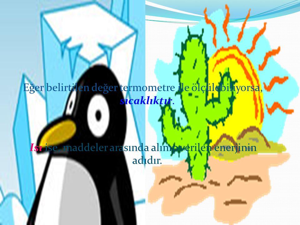 KAZANIMLAR 1.Isı ve sıcaklık ile ilgili olarak öğrenciler; 1.1.