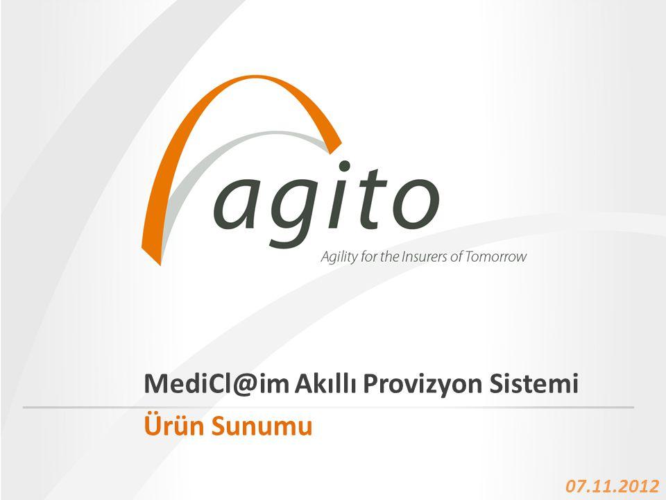 • 22.12.2012 Name Of The Presentation Ajanda • Agito Hakkında • MediClaim Ürün Sunumu – Problem Alanı – MediCl@im Vizyon – MediCl@im Çözüm Haritası – Mediclaim Sistemi Süreç Akışı – Tamamlayıcı Sigorta – Ürün Yol Haritası