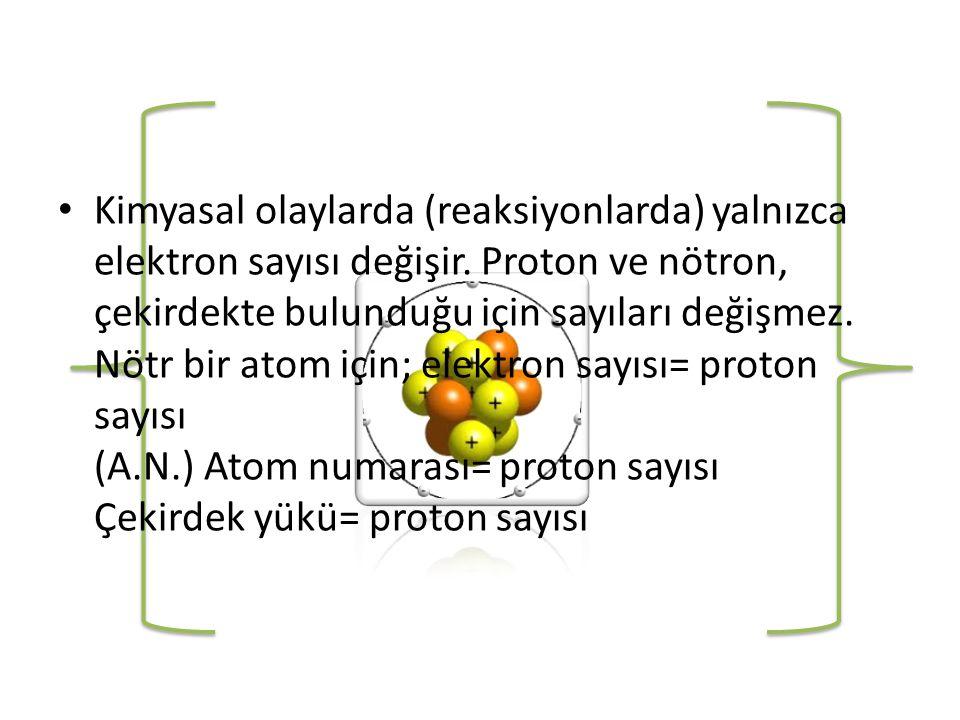 • Elektriksel alandaki bu sapmalar taneciğin yükü (e)ile doğru, kütlesi(m) ile ters orantılıdır.