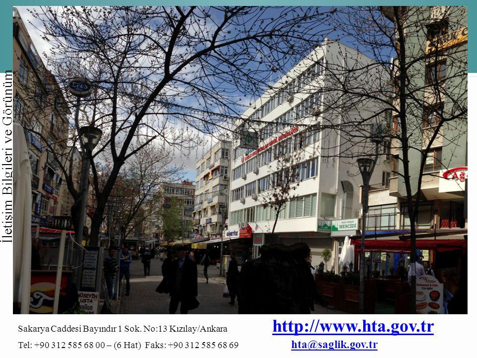 Sakarya Caddesi Bayındır 1 Sok. No:13 Kızılay/Ankara http://www.hta.gov.tr http://www.hta.gov.tr Tel: +90 312 585 68 00 – (6 Hat) Faks: +90 312 585 68