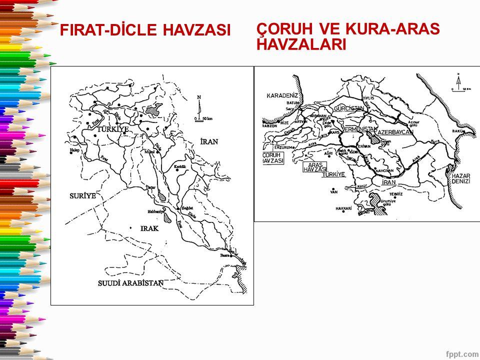 FIRAT-DİCLE HAVZASI ÇORUH VE KURA-ARAS HAVZALARI
