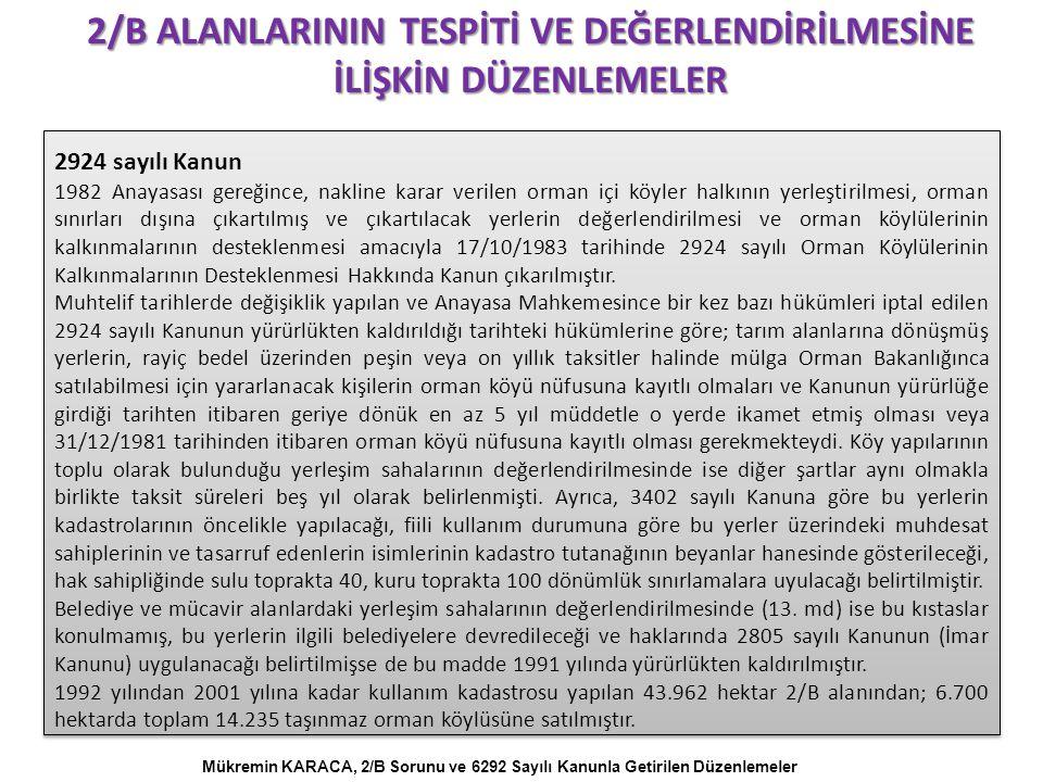 İSTANBUL'DA 2/B Kaynak: İstanbul Metropoliten Alanı Kentsel Ulaşım Ana Planı, Mayıs 2011 TEM güzergahı boyunca yer alan ilçelerden; Sultanbeyli'nin %25'i 2B alanı iken, Beykoz'un %10'u, Ümraniye'nin %7'si, Pendik'in %5'i ve Gaziosmanpaşa'nın da %4'ü 2B alanıdır.
