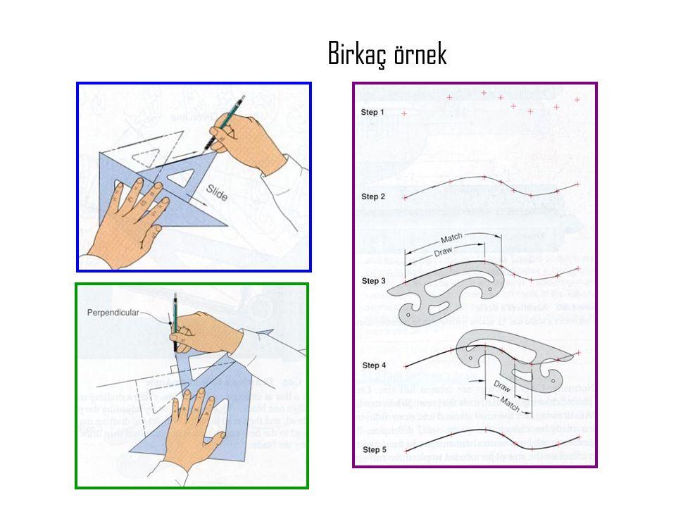 4-Teknik çizim indeksleri • Projection: projeksion • Orthographic or multi view drawings: çok görünümlü çizim • Pictorial drawings: resimsel çizimler – Isometric – Oblique – Perspective • Dimensioning: boyutlandırma • Sectioning: kesitlendirme