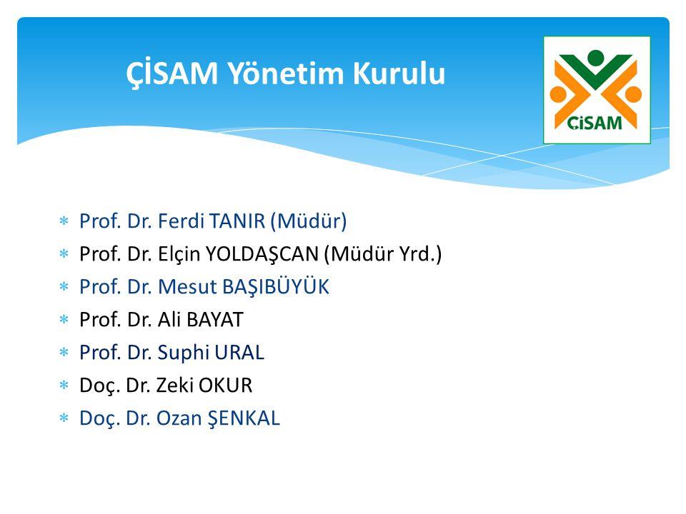  Prof. Dr. Ferdi TANIR (Müdür)  Prof. Dr. Elçin YOLDAŞCAN (Müdür Yrd.)  Prof. Dr. Mesut BAŞIBÜYÜK  Prof. Dr. Ali BAYAT  Prof. Dr. Suphi URAL  Do