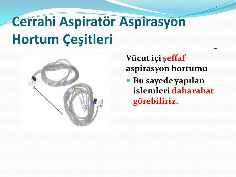 Cerrahi Aspiratör Aspirasyon Hortum Çeşitleri - Vücut içi şeffaf aspirasyon hortumu  Bu sayede yapılan işlemleri daha rahat görebiliriz.