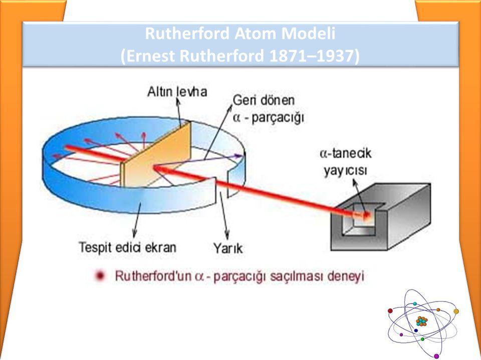 Rutherford Atom Modeli (Ernest Rutherford 1871–1937) Rutherford Atom Modeli (Ernest Rutherford 1871–1937)