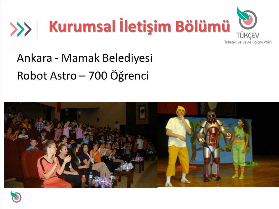 Kurumsal İletişim Bölümü Ankara - Mamak Belediyesi Robot Astro – 700 Öğrenci