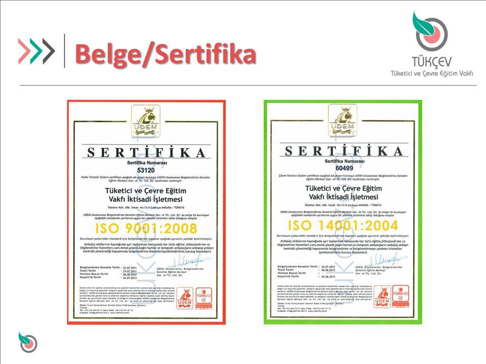 Belge/Sertifika
