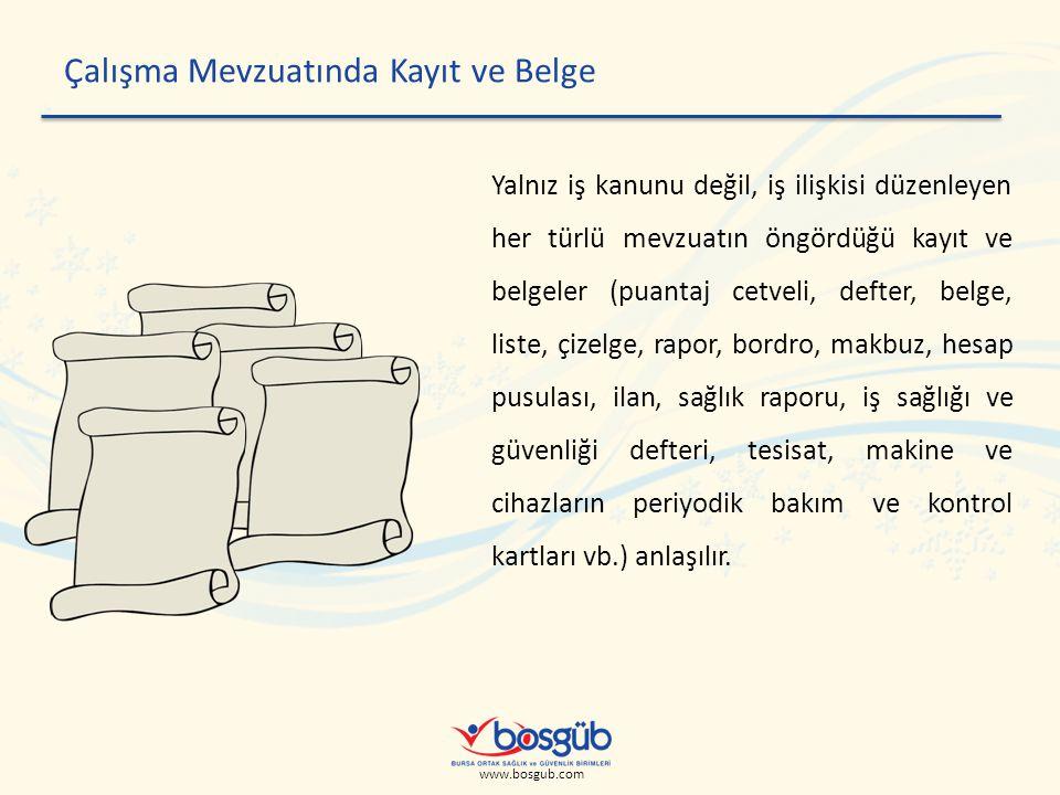 www.bosgub.com Teknik Rapor Düzenlemesi Uygulanan test ve deneyler ile yapılan kontroller esnasında elde edilen bilgileri gösterir, tam bir teknik rapor hüviyetini taşıyan belge düzenlenmelidir.