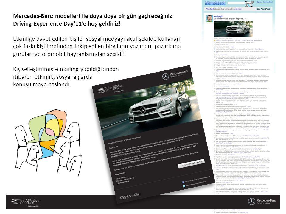 Mercedes-Benz modelleri ile doya doya bir gün geçireceğiniz Driving Experience Day'11'e hoş geldiniz! Etkinliğe davet edilen kişiler sosyal medyayı ak