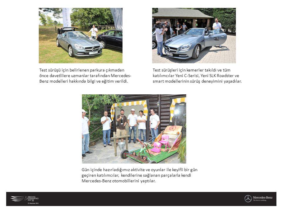 Gün içinde hazırladığımız aktivite ve oyunlar ile keyifli bir gün geçiren katılımcılar, kendilerine sağlanan parçalarla kendi Mercedes-Benz otomobille