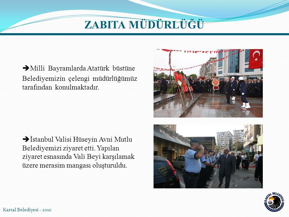  Milli Bayramlarda Atatürk büstüne Belediyemizin çelengi müdürlüğümüz tarafından konulmaktadır.  İstanbul Valisi Hüseyin Avni Mutlu Belediyemizi ziy