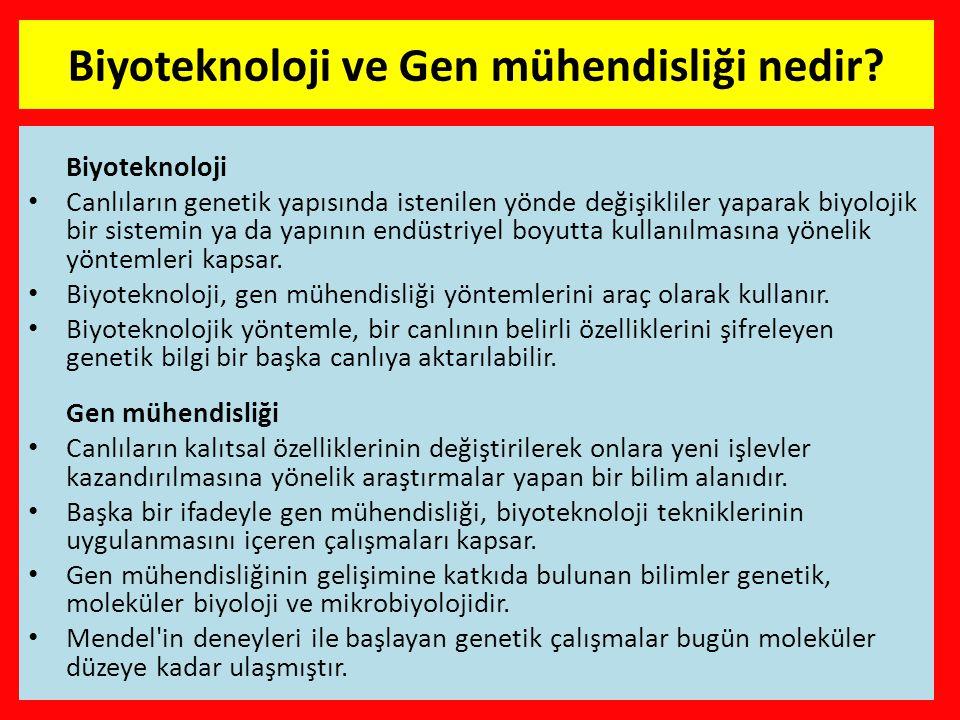 Biyoteknoloji ve Gen mühendisliği nedir.