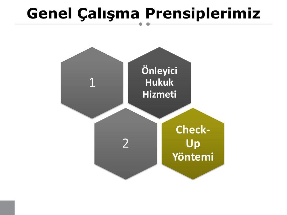 Genel Çalışma Prensiplerimiz Önleyici Hukuk Hizmeti 1 2 Check- Up Yöntemi