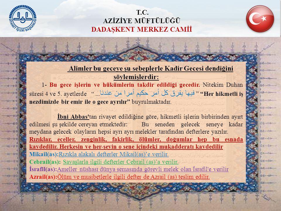 ZAMANI KIYMETLENDİREN MUHATABINIDA KIYMETLENDİRİR Ramazan ayı için on bir ayın sultanı dememizdeki asıl hikmet Kur'an-ı Kerimin içinde indirildiği ay olmasıdır.