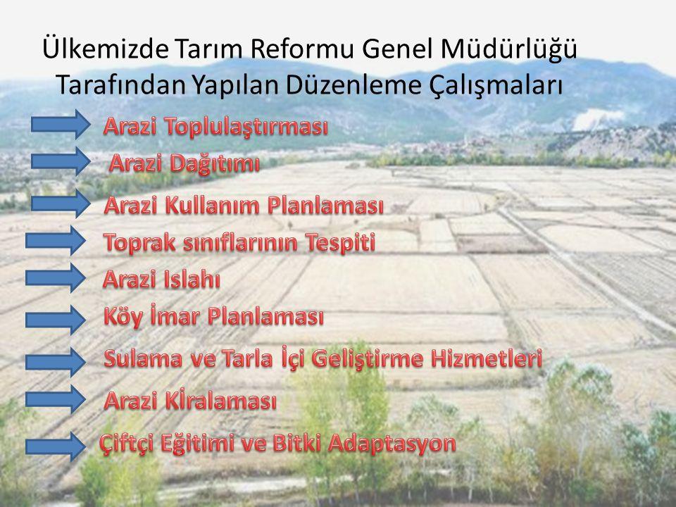 Ülkemizde Tarım Reformu Genel Müdürlüğü Tarafından Yapılan Düzenleme Çalışmaları