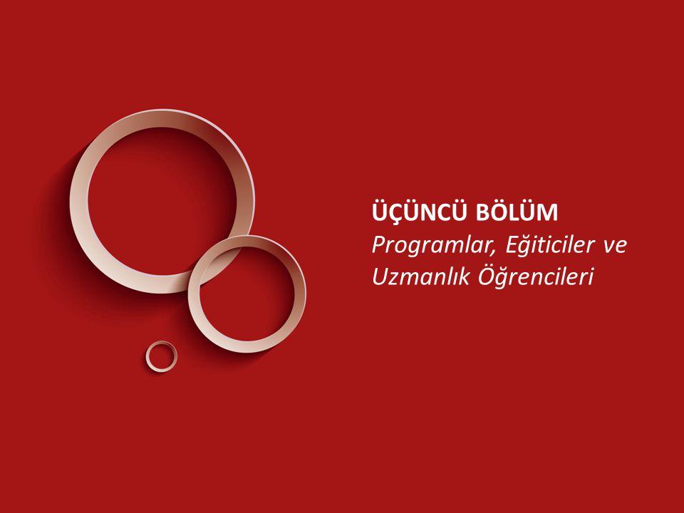 ÜÇÜNCÜ BÖLÜM Programlar, Eğiticiler ve Uzmanlık Öğrencileri
