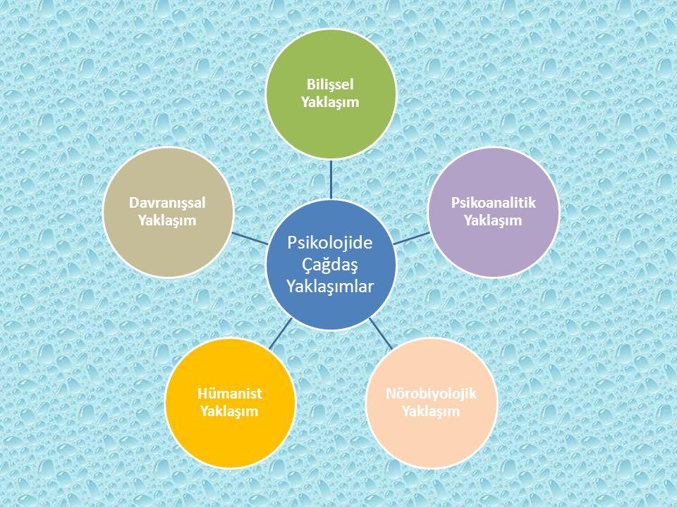 Psikolojide Çağdaş Yaklaşımlar Bilişsel Yaklaşım Psikoanalitik Yaklaşım Nörobiyolojik Yaklaşım Hümanist Yaklaşım Davranışsal Yaklaşım