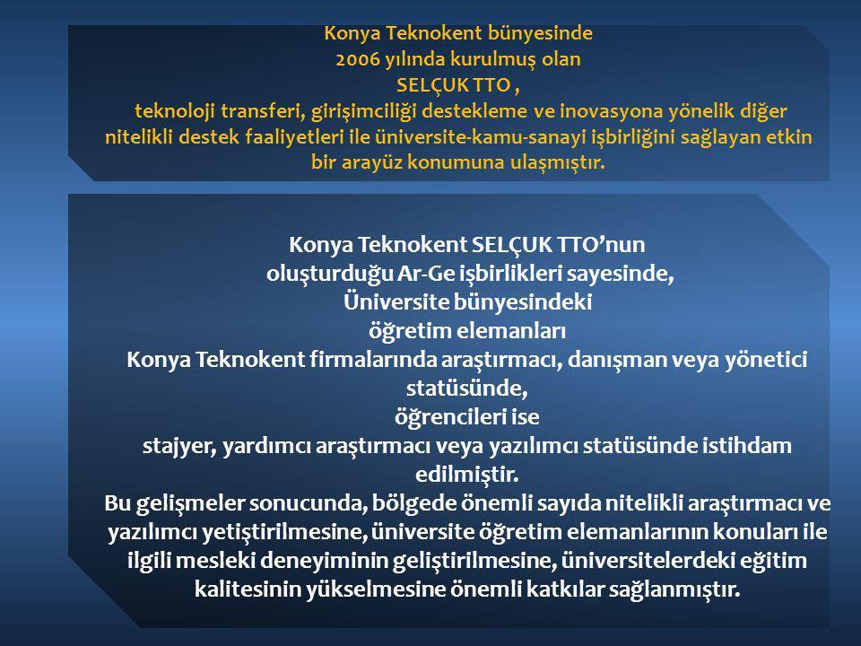 Konya Teknokent bünyesinde 2006 yılında kurulmuş olan SELÇUK TTO, teknoloji transferi, girişimciliği destekleme ve inovasyona yönelik diğer nitelikli