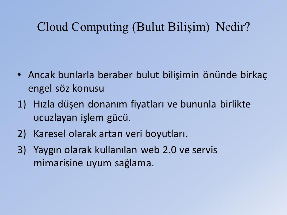 Cloud Computing (Bulut Bilişim) Nedir.