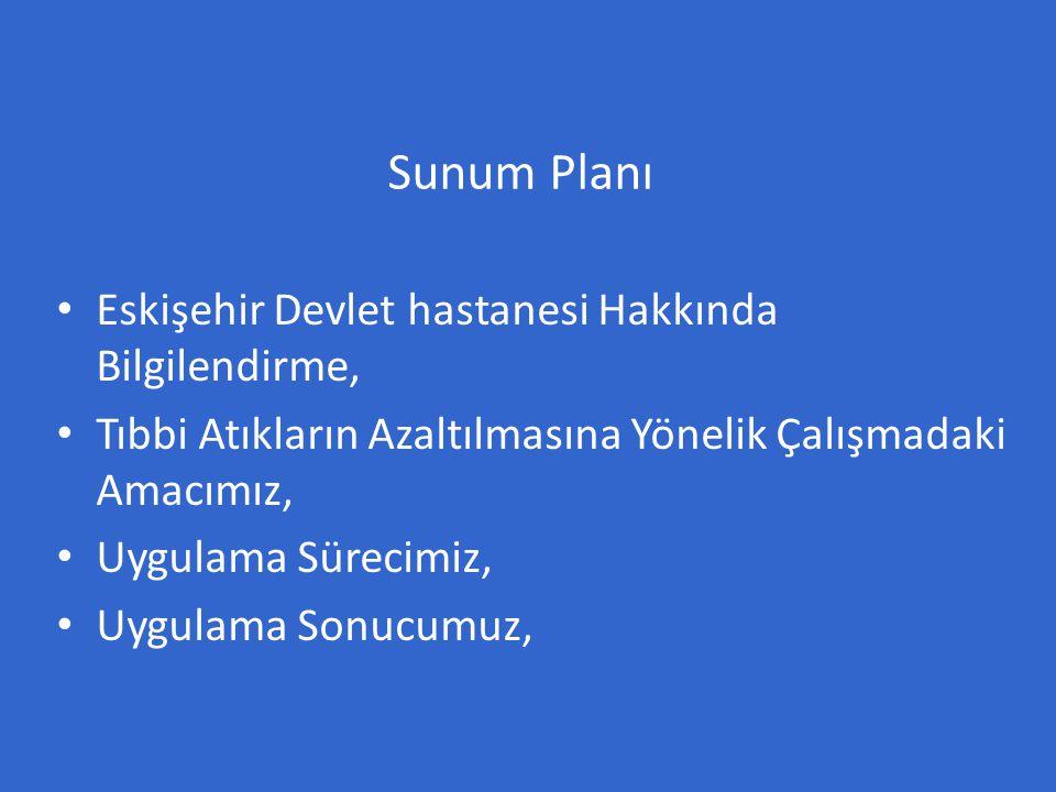 Eskişehir Devlet Hastanesi 4 ayrı yerleşkede 13 blok toplam 72000m ² kapalı alan