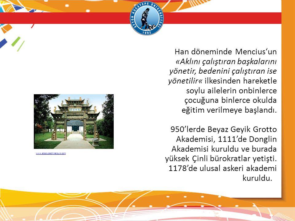 Han döneminde Mencius'un «Aklını çalıştıran başkalarını yönetir, bedenini çalıştıran ise yönetilir« ilkesinden hareketle soylu ailelerin onbinlerce ço