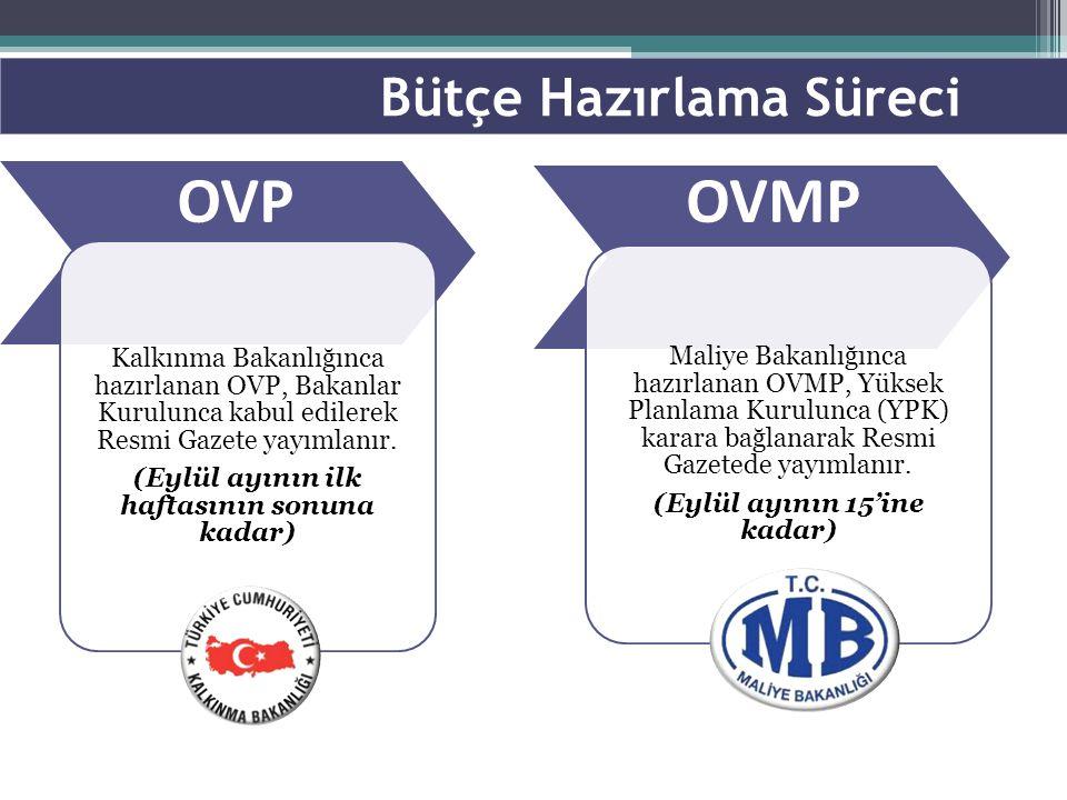 Kalkınma Bakanlığınca hazırlanan OVP, Bakanlar Kurulunca kabul edilerek Resmi Gazete yayımlanır. (Eylül ayının ilk haftasının sonuna kadar) Maliye Bak