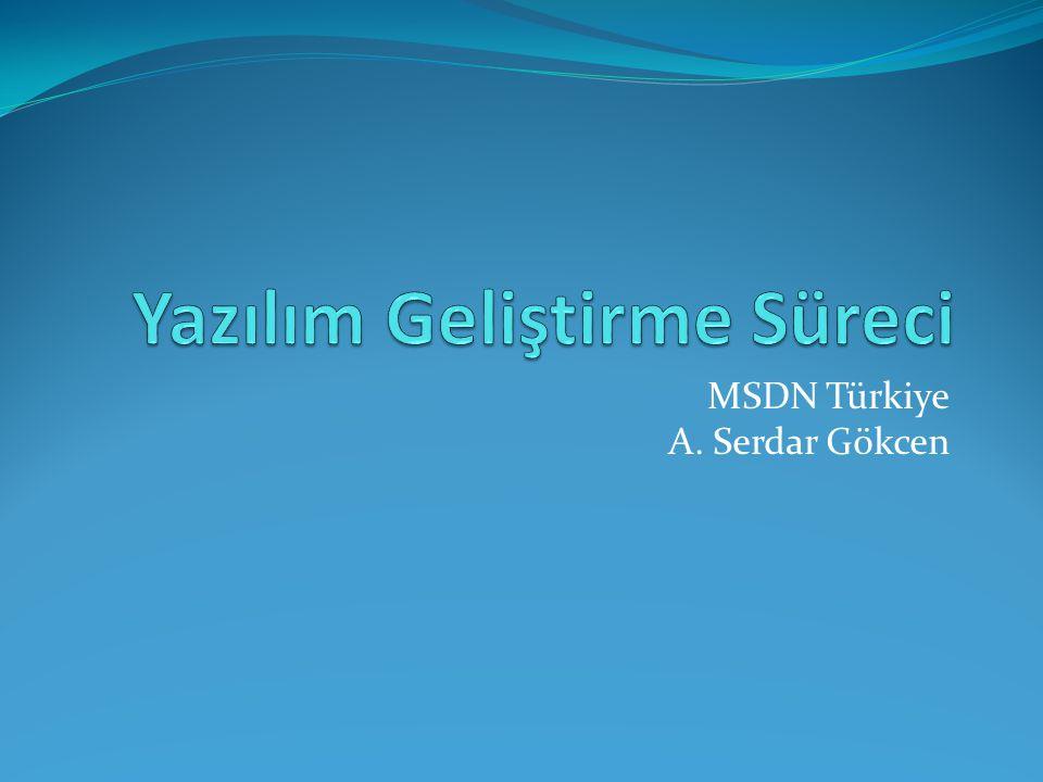 MSDN Türkiye A. Serdar Gökcen