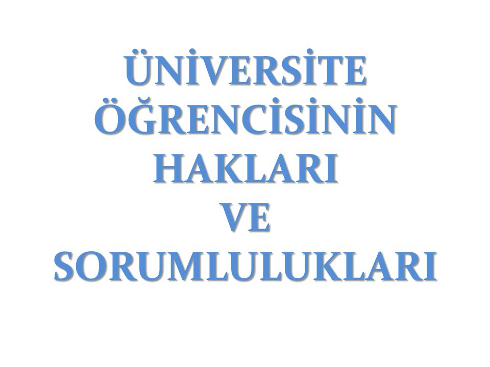 SINAVLARA İLİŞKİN HAKLAR 1.
