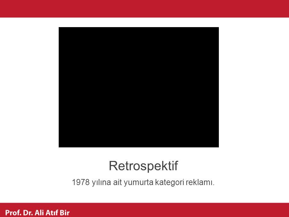 Retrospektif 1978 yılına ait yumurta kategori reklamı.
