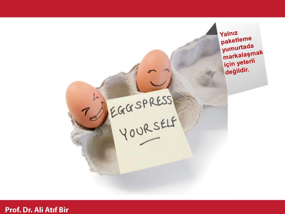 Yalnız paketleme yumurtada markalaşmak için yeterli değildir.