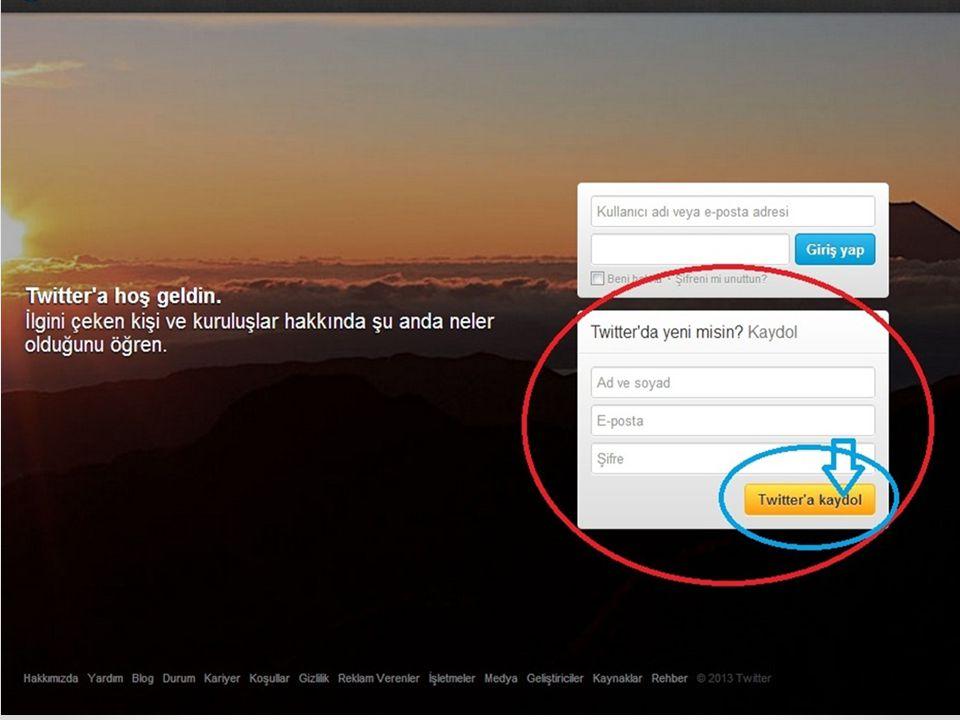 Twitter Sayfa Tasarım ve Düzeni Ayarlar butonundan sayfamızın tasarımını ve düzenini ayarlaya biliyoruz.