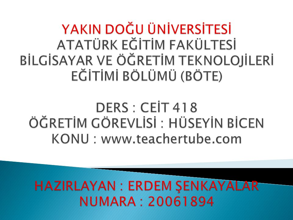  Teachertube.com sitesinin ana sayfa görüntüsünu sol taraftaki resimden görebiliyoruz.