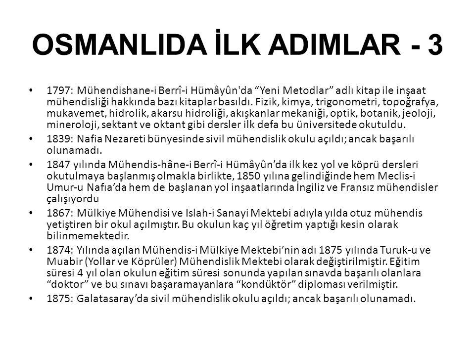 BETONARME BİNALAR • 1906: Beyoğlu/İstanbul'da bulunan Saint Antuan kilisesi Türkiye'deki ilk • betonarme uygulamasıdır38.